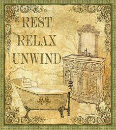 Vintage Rest Relax Unwind (Jean Plout)