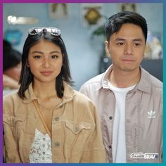 IndakStoryCon Nadine with Sam Concepcion (ctto) Nadine Lustre, Filipino, Diamond Earrings, Hairstyles, Celebrities, Drawings, Coat, Photography, Jackets