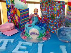 Mermaid cake,  tabitha made this cake too