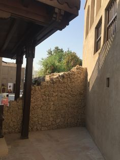 Stone wall Visit Dubai, Architecture Old, Old And New, Patio, Stone, Outdoor Decor, Wall, Home Decor, Rock