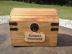 """A keep sake box for all our memories, $65.00. A perfect touch to starting our life together. I'd like it to say """"Our Memories"""" with a little 369 underneath it."""