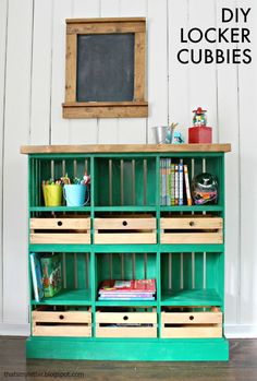 That's My Letter: Locker Cubbies & Giveaway