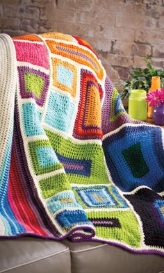 Crochet Patterns - Crochet! Magazine >> Love the one in the pic with the squares & rectangles!