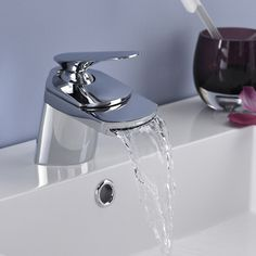 A new tap is a great way to freshen things up. http://www.victorianplumbing.co.uk/Premier-Series-U-Wide-Spout-Mono-Basin-Mixer-without-Waste-UTY385.aspx