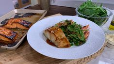 James Martin's miso black cod | This Morning Chef Recipes, Fish Recipes, Cooking Recipes, Savoury Recipes, Fish Batter With Egg, Maple Syrup Salmon, Baby Spinach Salads, Mushy Peas, Black Cod