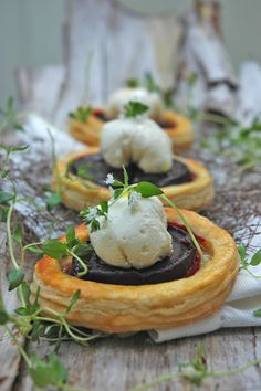 Beetroot Tarts with Goat's Cheese Mousse