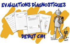 Evaluation diagnostique Rentrée CM1 Cycle 3, Classroom Management Techniques, School Organisation, 12th Maths, Mariette, French Immersion, Elementary Teacher, School Projects, Special Education
