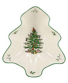 Spode Serveware, Exclusive Christmas Tree Individual Tree Shaped Dish $12