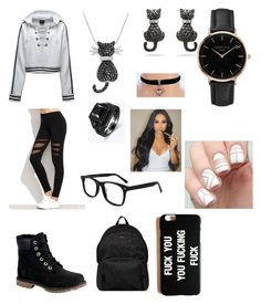 """""""Clingy"""" by yugyeomwiffey on Polyvore featuring Puma, Timberland, Hogan, Topshop and Amanda Rose Collection"""