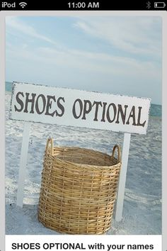 Great idea for a Beach wedding \ friends and family can drop theirs before walking on beach.