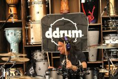 Vinny Appice clinic at GoDpsMusic on August 2013 #vinny #drums #music