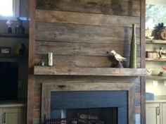 wood look tile fireplace - Google Search