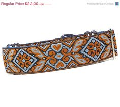 CIJ Sale 10% off Blue and Orange Martingale Collar, Dog Collar -Your Majesty Blue LG. $19.80, via Etsy.
