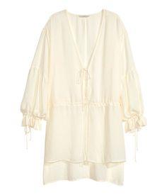V-neck tunic | Natural white | Ladies | H&M AU