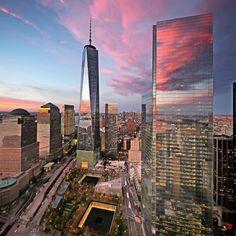 New York City Feelings - A stunning sunset over the new world trade center...