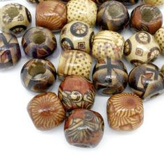 10 dread beads. €2.50, via Etsy. :: Shop DreadStop.Com for Leather Dreadlock…