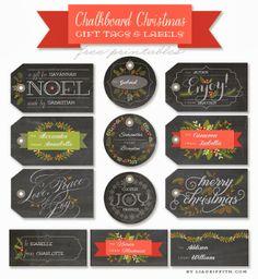 Fab Five Friday chalkboard labels-Free