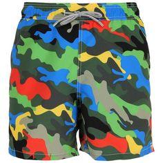 2e3aff6aa9 Mc2 Saint Barth Men Gustavia Colormetic Camo Swim Shorts ($125) ❤ liked on  Polyvore