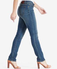Lauren Ralph Lauren Super-Stretch Modern Curvy Straight-Leg Jeans - Harbor 12