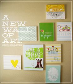 Each of these are a printable + spray adhesive + canvas. I didn't do these exact printables, but I did do the spray adhesive onto canvas for my kitchen and it turned out adorable. :)