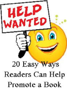 20 Easy Ways Readers Can Help Promote a Book http://jodyhedlund.blogspot.com/2012/06/20-easy-ways-readers-can-help-promote.html