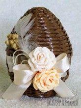 Пасхальные яйца из газетных трубочек. МК и идеи