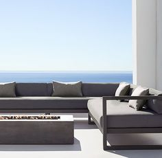 Aegean Aluminum Customizable Sectional