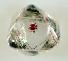 Stephen H. Richardson, University of Cape Town Diamond with a garnet inclusion