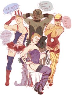"""""""The Hawkeye Initiative"""" calls out comic book inequality, showing how male superheroes would look if dressed and posed like their female counterparts. Thor, Marvel Dc Comics, Marvel Avengers, Tony Stark Comic, Hulk, Strong Female Characters, Character Poses, Clint Barton, Hawkeye"""