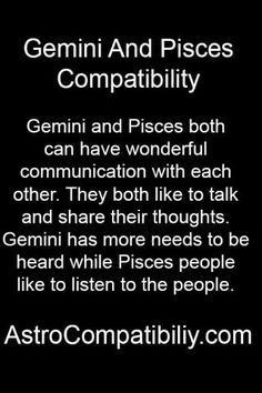 pisces woman and gemini relationship