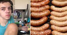 Der 15-jährige Ben Simpson aus Swansea, Wales, hat sich sein Leben lang nur von Würsten ernähren können. Doch der Teenager war nicht etwa nur wählerisch beim Essen. Er litt an einer Krankheit, die zur Folge hatte, dass er sich von nichts anderem ernährend wollte. Nun konnte ihn ein Arzt mithilfe von Hypnose heilen. #Hypnose #Würste #Hypnosetherapie #Essen Swansea, Teenager, Hot Dogs, Wales, Sausage, Ethnic Recipes, Food, Slim, Losing Weight