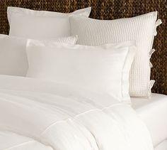 Pure white duvet cover and sham (sham $19, duvet cover $99)