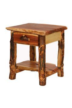 Juniper and Aspen 1 drawer nightstand by BlueRidgeLogWorks on Etsy, $330.00