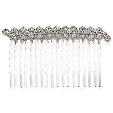 Simple Diamante Two Row Hair Slide, Silver