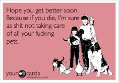 get well cards for pets - Google Search