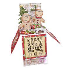 Gingerbread Men Pop-Up Box Card  Christmas by CraftyEmmaCrafts