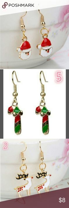 Xmas Earrings NWT....(4)different Xmas designs on these surgical steel fish hook earrings...you are sure to get compliments from these! Jewelry Earrings