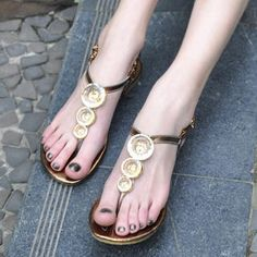 bejeweled thong sandals.  best worn with shorts, maxi dresses or skirts