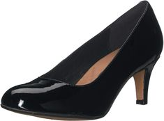 From the clarks® artisan collection, this is the essential women's dress pump of the season. made of a premium leathers, the heavenly heart is a wardrobe s Black Patent Leather Shoes, Black Pumps, Women's Pumps, Pump Shoes, Heart Pump, Wrap Heels, Heart Dress, Vintage Shoes, Clarks