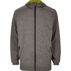 RI Active grey fluro lined zip sports jacket Mens Raincoat, Mens Winter Coat, Sports Jacket, Leather Jacket, Zip, Denim, Grey, Jackets, Collection