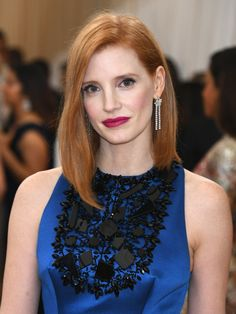 Pin for Later: See Every Elegant Beauty Look From the Red Carpet at the Met Gala Jessica Chastain