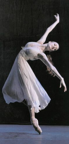 Gillian Murphy, American Ballet Theatre. check out the view/angle of the pointe shoe; she is 'not' on the flat toe area of the shoe (but on the 'point'/edge), ~!