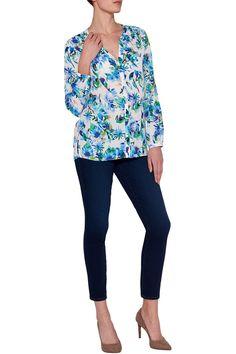 blousetop met tropische print