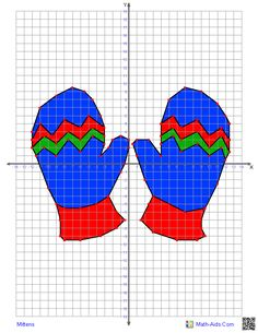 Mittens - plus a wide variety of additional coordinate graphing pictures. Free. You can also set the difficulty level and it will print additional pictures. CCSS.Math.Content.5.G.A.1-2