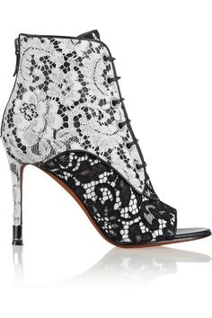 Givenchy Women Ankle Boot on YOOX. The best online selection of Ankle Boots Givenchy. White Leather Ankle Boots, Lace Ankle Boots, Lace Booties, Bootie Boots, Shoe Boots, Shoes Heels, Lace Heels, Ankle Booties, Black Boots