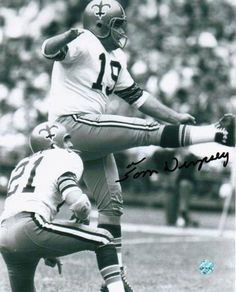New Orleans Saints Tom Dempsey Never will forget his 63 yard field goal to win the game!