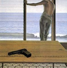 Pacific Stretched Canvas Print / Canvas Art for sale. Shop your favorite Alex Colville Pacific Stretched Canvas Print / Canvas Art without breaking your banks. Alex Colville, Canadian Painters, Canadian Artists, Edward Hopper, Pop Art, Artist Birthday, Art Gallery Of Ontario, Canvas Art For Sale, Magic Realism