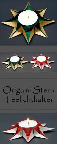Origami star tealight holders fold for Christmas - make your own Christmas decoration . - Origami star tealight holders fold for Christmas – make your own Christmas decorations with paper - Origami Diy, Design Origami, Origami Simple, Origami Star Box, Useful Origami, Origami Stars, Origami Tutorial, Origami Paper, Origami Ideas