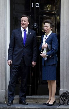 Princess Anne meets PM David Cameron at Downing St in Princess Elizabeth, Princess Mary, Queen Elizabeth Ii, Timothy Laurence, Peter Phillips, Lady Ann, British Prime Ministers, Queen Pictures, David Cameron