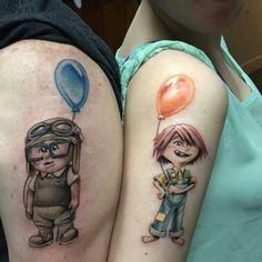 30 Matching Tattoo Ideas For Couples Liebenswert Paare Disney Tattoos Disney Tattoos, Disney Couple Tattoos, Best Couple Tattoos, Cartoon Tattoos, Best Friend Tattoos, Paar Tattoos, Bild Tattoos, Great Tattoos, Love Tattoos